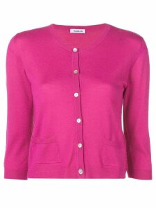 P.A.R.O.S.H. slim-fit knitted cardigan - Pink
