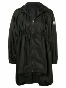 Moncler oversized hooded coat - Black