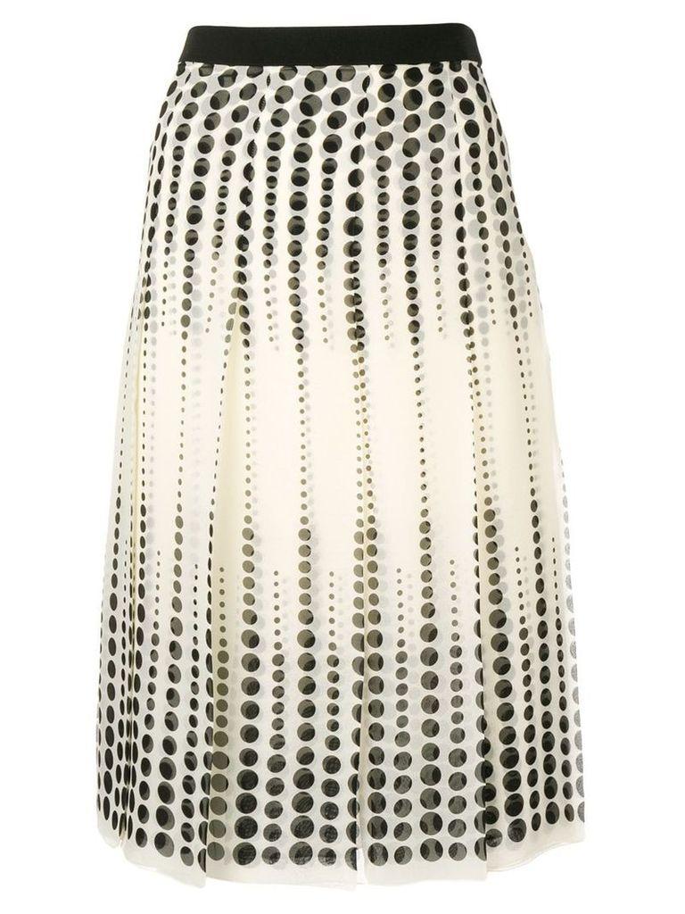 Giambattista Valli pleated midi skirt - Neutrals