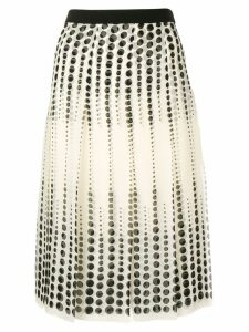 Giambattista Valli pleated midi skirt - NEUTRALS