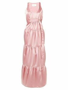 Cédric Charlier ruched long dress - Pink