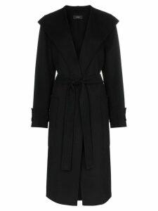 Joseph Lista belted wrap trench coat - Black