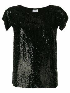 P.A.R.O.S.H. black sequin top