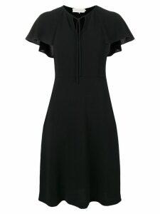 L'Autre Chose flutter sleeve dress - Black