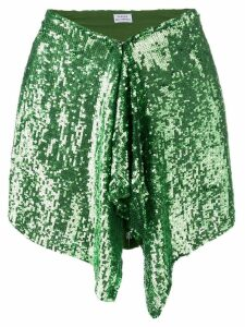 P.A.R.O.S.H. green sequin skirt
