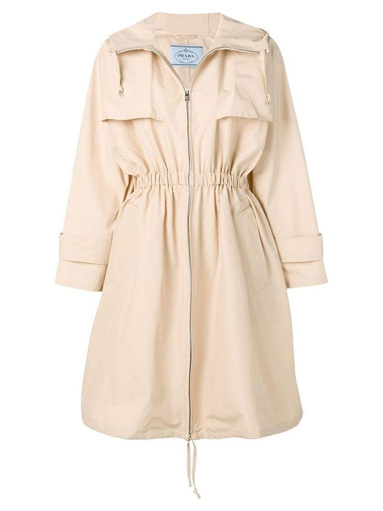 Prada zipped trench coat - Neutrals