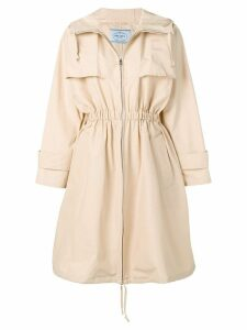 Prada zipped trench coat - Neutrals