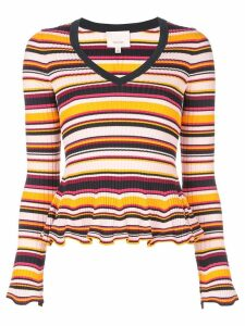 Cinq A Sept striped Zana ribbed jumper - Orange