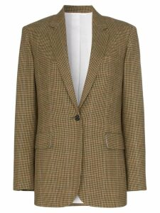 Calvin Klein 205W39nyc single-breasted check wool blazer - Brown