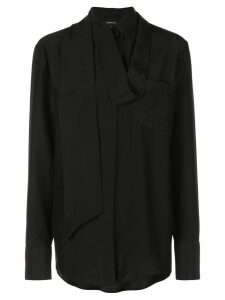 Barbara Bui scarf detailed shirt - Black
