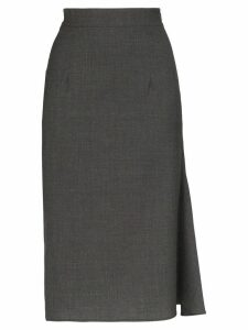Wright Le Chapelain high-waisted wool pencil skirt - Grey