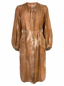 Raquel Allegra buttoned shirt dress - Brown