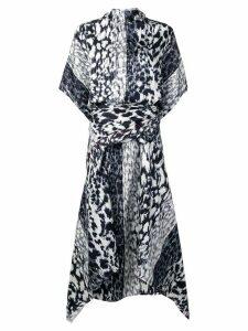 Victoria Beckham leopard print midi dress - Blue