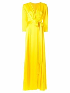 Rhea Costa structured satin dress - Yellow
