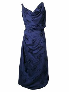 Vivienne Westwood asymmetric empire line dress - Blue