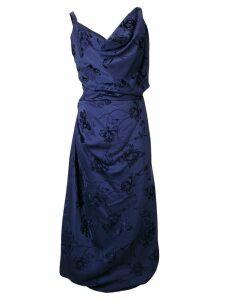 Vivienne Westwood asymmetric empire line dress - Blue