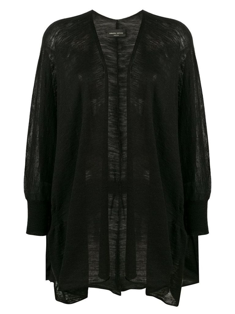 Roberto Collina fine knit cardigan - Black