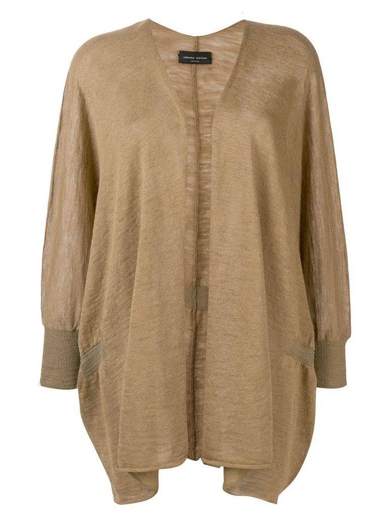 Roberto Collina fine knit cardigan - Neutrals