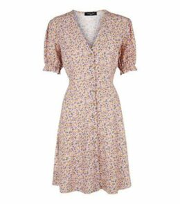 Tall Pink Ditsy Floral Tea Dress New Look