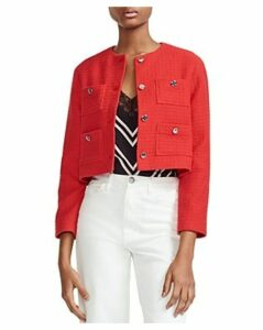 Maje Violi Cropped Tweed Jacket