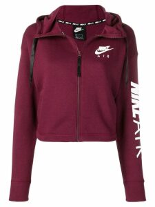 Nike logo zip up hoodie - Red