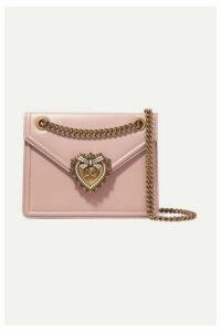 Dolce & Gabbana - Devotion Mini Embellished Leather Shoulder Bag - Pastel pink