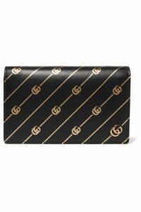 Gucci - Printed Leather Shoulder Bag - Black