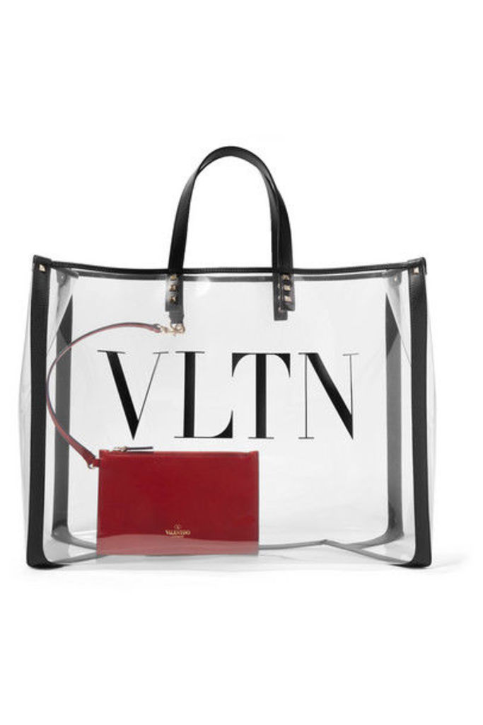 Valentino - Valentino Garavani Grande Plage Large Leather-trimmed Printed Pvc Tote - Clear