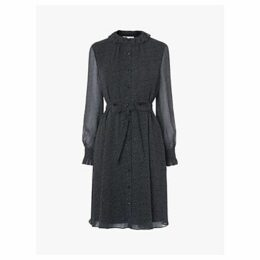 L.K.Bennett Eliza Spot Dress, Navy/Multi