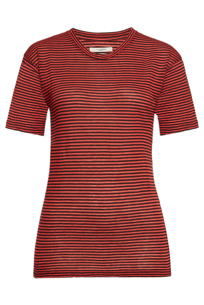 Isabel Marant toile Striped T-Shirt in Cotton and Linen
