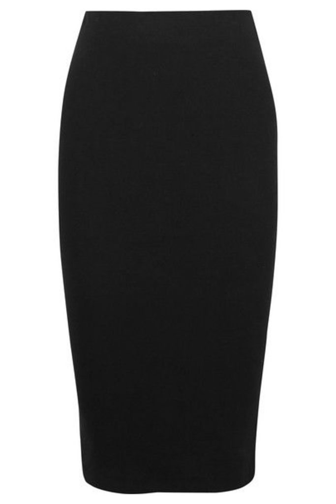 Ninety Percent - Ribbed Organic Cotton-blend Jersey Midi Skirt - Black