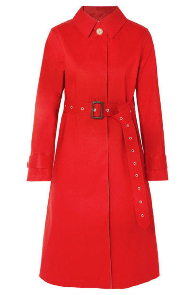 Mackintosh - Bonded Cotton Trench Coat - Red