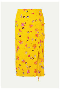 Altuzarra - Fausto Printed Silk Crepe De Chine Midi Skirt - Yellow