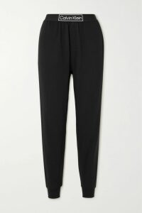 L'Agence - Paulie Grosgrain-trimmed Leather Blazer - Black