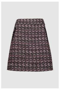 Womens F&F Multi Textured Bouclé Skirt -  Natural