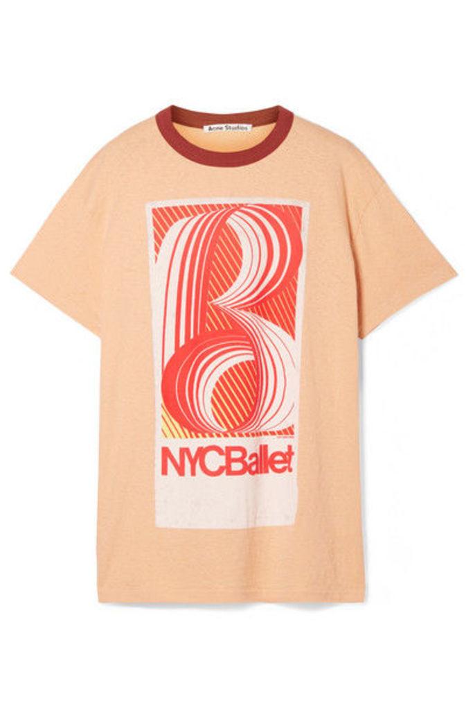 Acne Studios - Esmeta Printed Cotton-jersey T-shirt - Peach