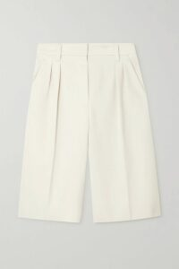 Ashish - Ruffled Sequin-embellished Chiffon Wrap Maxi Dress - Beige