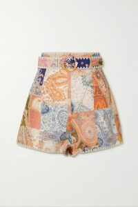 Rosie Assoulin - Pleated Printed Cotton-blend Faille Maxi Dress - White
