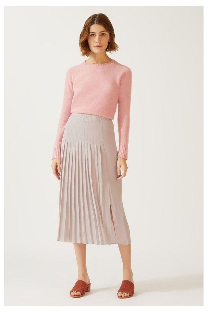Womens Jigsaw Pink Pleat Midi Skirt -  Pink