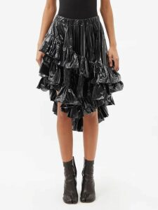 See By Chloé - Puffed Sleeve Floral Print Cotton Mini Dress - Womens - Ivory Multi