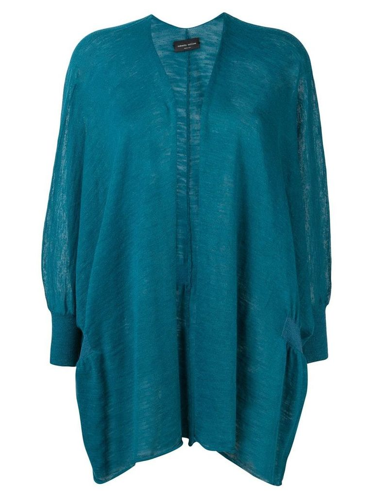 Roberto Collina fine knit cardigan - Blue
