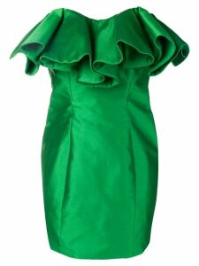 Attico bustier structure mini dress - Green