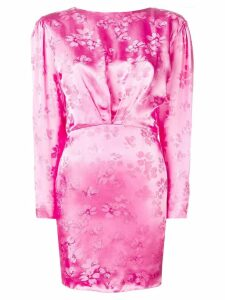 Attico open-back floral dress - Pink