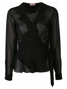 Blanca ruffled neck blouse - Black