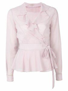 Blanca ruffled neck blouse - Pink