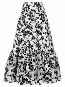 Bambah Seville velvet midi skirt - White