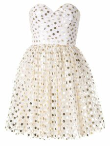 Bambah gold polka mini dress - White