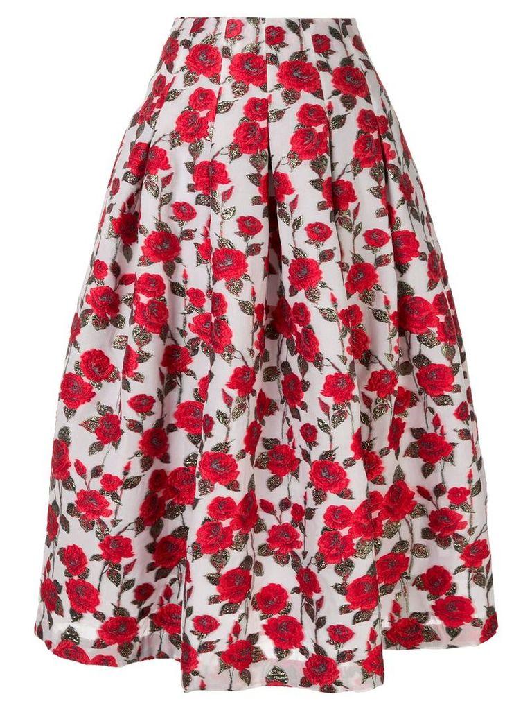 Bambah floral midi skirt - White