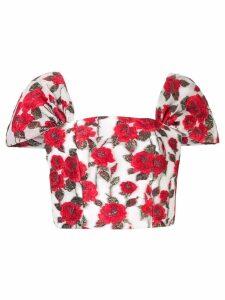 Bambah floral cap bustier - White