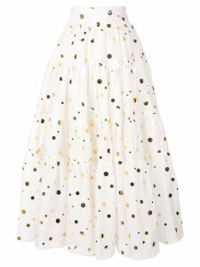 Bambah polka Peasant skirt - White